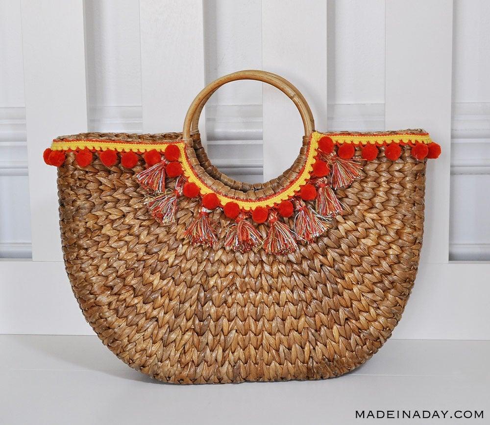 Design Trend Make Your Own Pom Amp Tassel Basket Totes