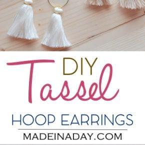 DIY Hoop Tassel Earrings 1