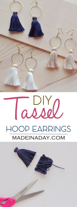 Diy Hoop Tassel Earrings Made In A Day