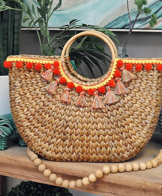 Design Trend: Make Your Own Pom & Tassel Basket Totes 37