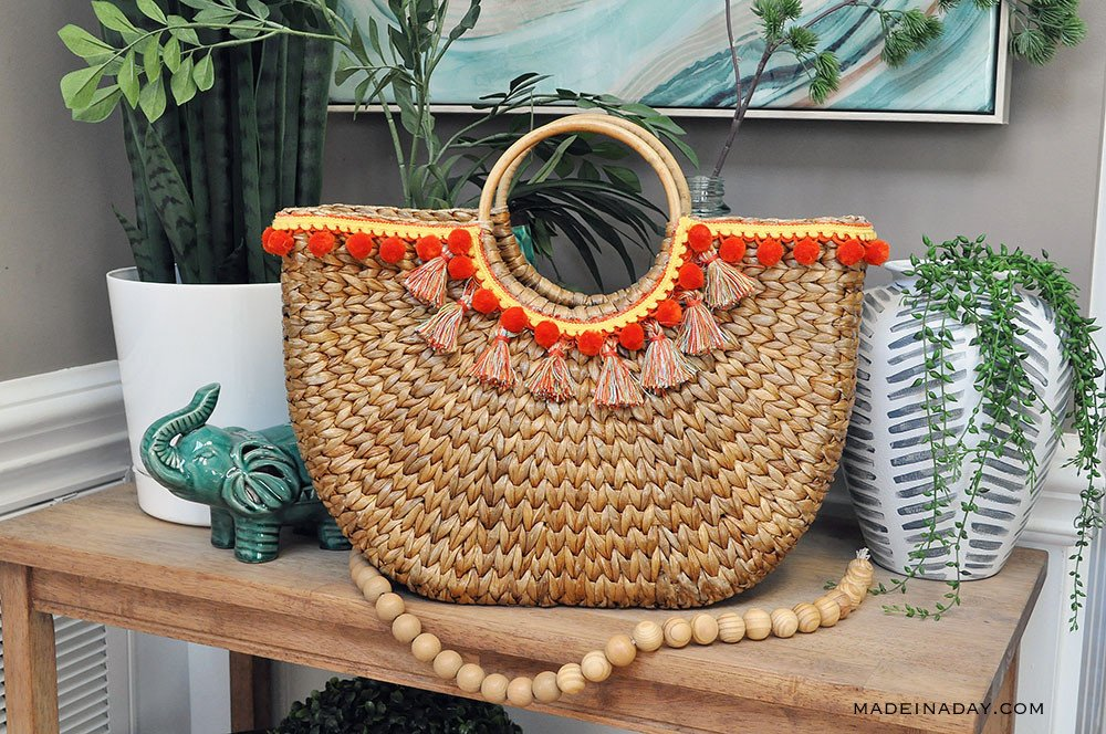 Design Trend: Make Your Own Pom & Tassel Basket Totes