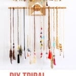 DIY Geometric Wall Jewelry Organizer 1