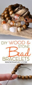 DIY Wood & Stone Bead Bracelets 1