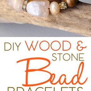 DIY Wood & Stone Bead Bracelets 31