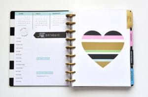 Enjoy the litte things Happy planner Current page
