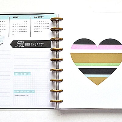 Loving my Happy Planner with Free July Printable Planner Stickers