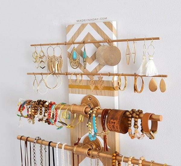 Geometric Industrial Jewelry Holder madeinaday.com