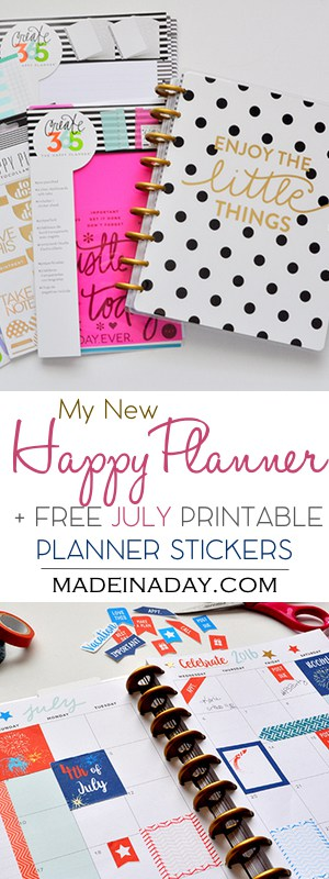 Happy Planner Review Free July Printabe Planner Stickers madeinaday.com