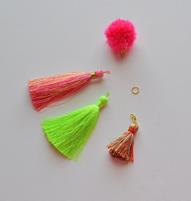 How to make a Bag Charm Tassel & Pom