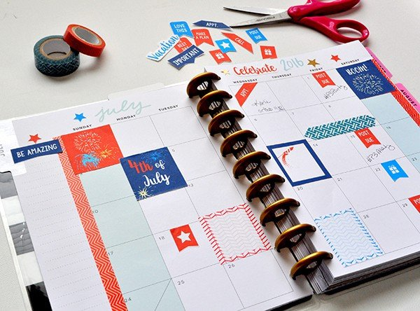 July FREE Printable Stickers for Happy Planner