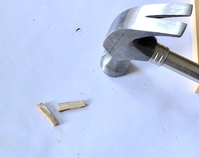 Make wood wedges to secure jewelry dowels