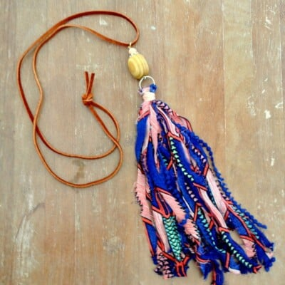 How to make Fabric Tassel Necklaces