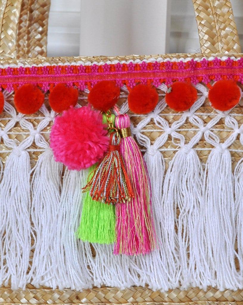 Tassel Pom Tote bag Charm madeinaday.com