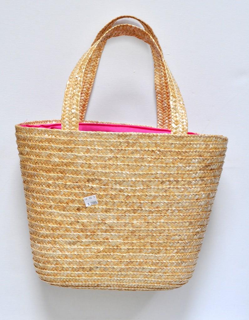 Thrift Store Basket Beach Bag makeover