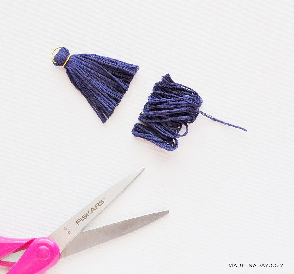 how to make a tassel from embroidery floss