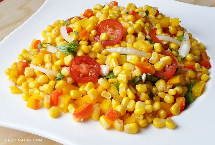 Corn Tomato Salad with Vidalia Onions 4