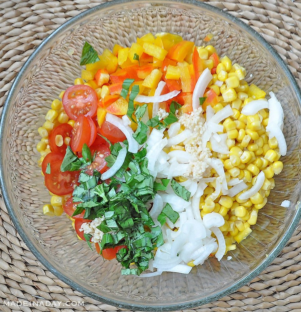 Corn Tomato Salad with Vidalia Onions 3