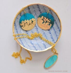 GILDED EARRINGS