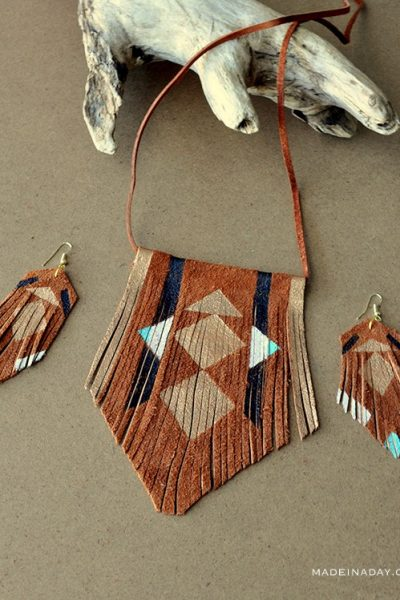 DIY Bohemian Suede Fringe Necklace