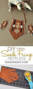 DIY Bohemian Suede Fringe Necklace 1