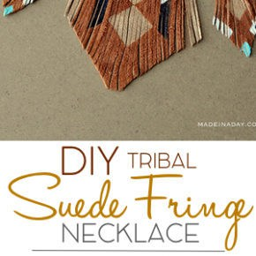 DIY Bohemian Suede Fringe Necklace 6