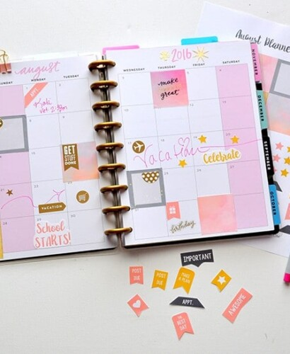 August FREE Printable Planner Stickers 34