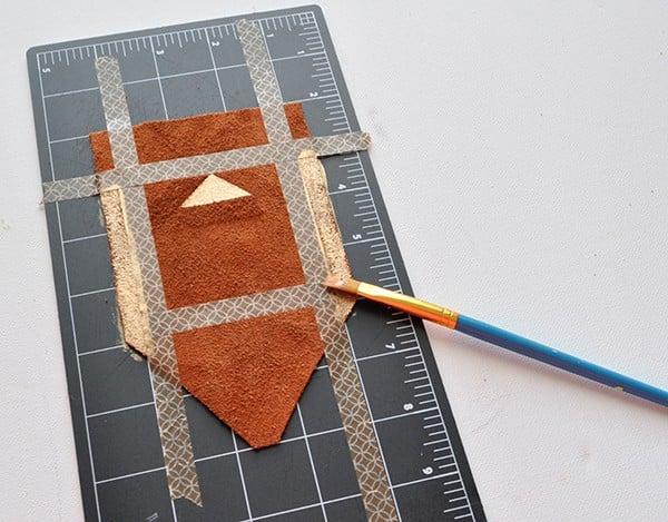 Painted Leather Fringe Necklace madeinaday.com