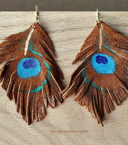 DIY Suede Fringe Earrings 1