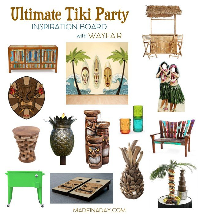 UltimateTiki Party Inspiration Board madeinaday.com