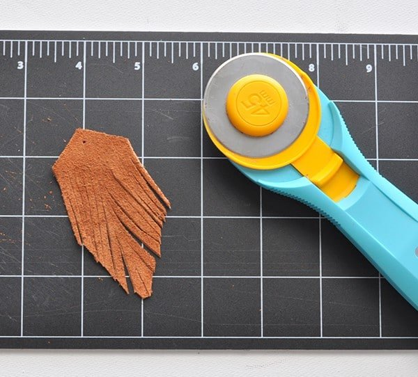 easy leather fringe