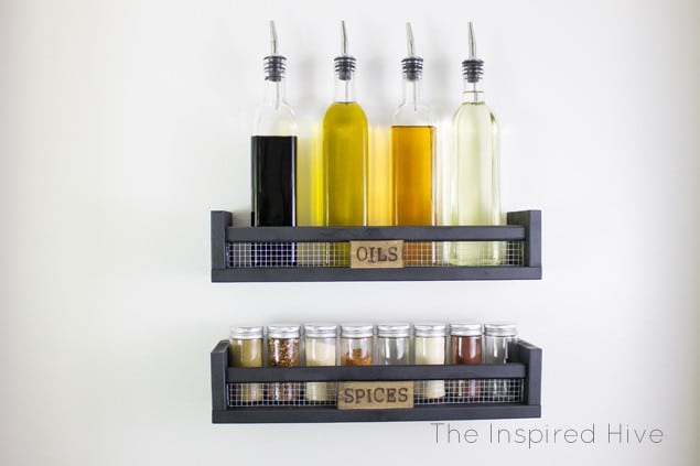 ikea hack industrial farmhouse spice rack diy
