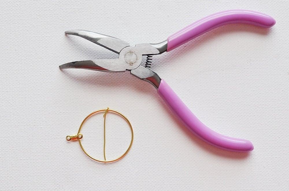 add wire to hoop earrings