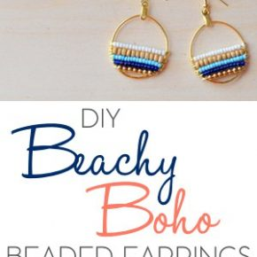 How to Make Beachy Boho Beaded Hoop Earrings 1