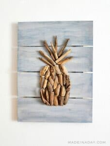 DRIFTWOOD PINEAPPLE WALL ART