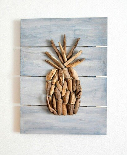 Driftwood Pineapple Pallet Wall Art 34