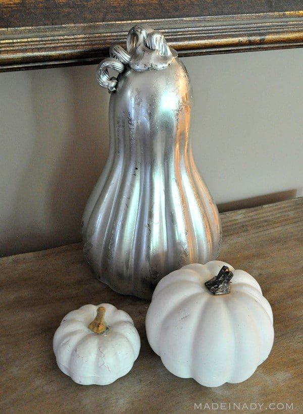 DIY Metallic Pumpkin with Spray Paint madeinaday.com