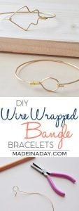 DIY Wire Wrapped Bangles 1
