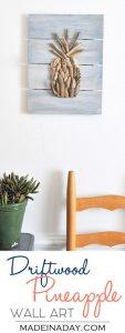 Driftwood Pineapple Pallet Wall Art 1