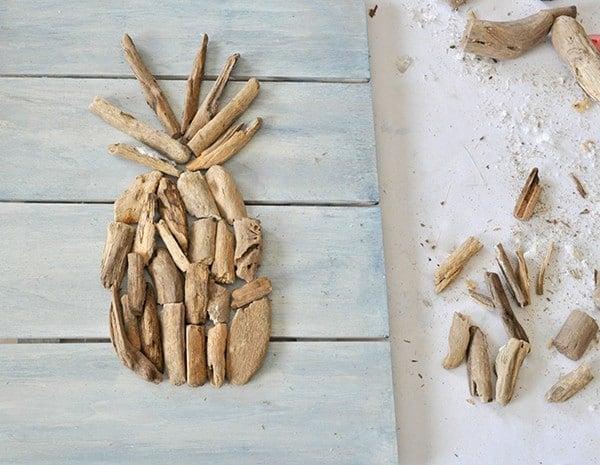 Make a Driftwood Pineapple madeinaday.com