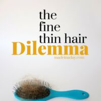 My Fine Thin Hair Dilemma Journey