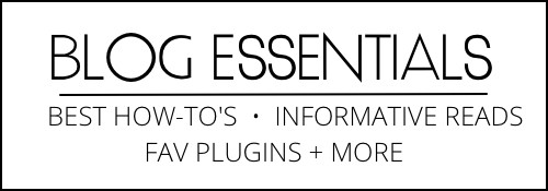 Blog Essential Page