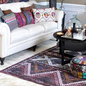 Boho Living Room Makeover: Pop of Color with World Market 6