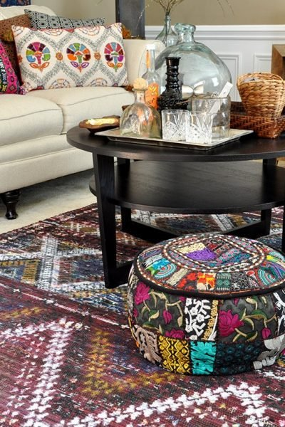 Boho Living Room Makeover: Pop of Color with World Market