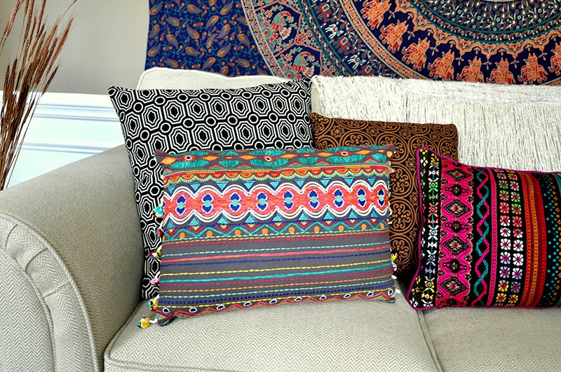 Boho Living Room Makeover Pop Of Color With World Market