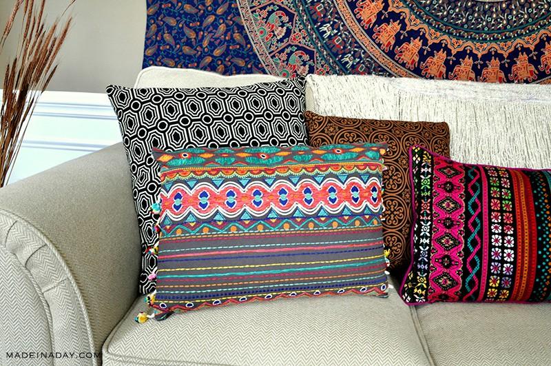 boho-pom-pom-lumbar-pillow-madeinaday-com