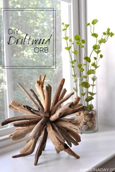 DIY Driftwood Orb