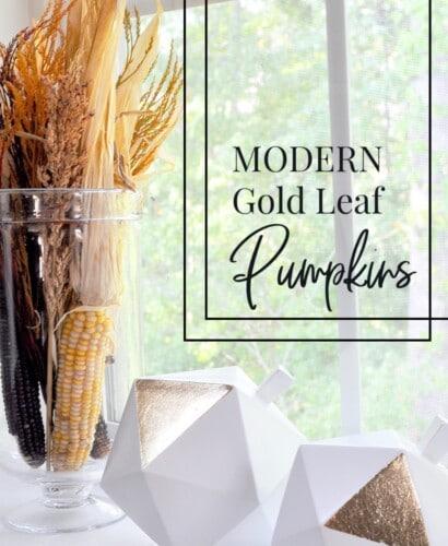 Modern Gold Leaf Pumpkins 7