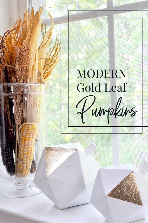Modern Gold Leaf Pumpkins