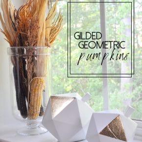 Gilded Geometric Pumpkins