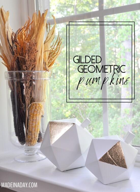 Gilded Geometric Pumpkins 31